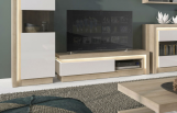 4_Lyon-Riviera-Oak-and-White-High-Gloss-Sideboard-3-Door-Glazed-(Including-Led-Lighting)-01